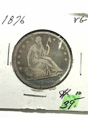 1876 Seated Liberty Half Dollar VG