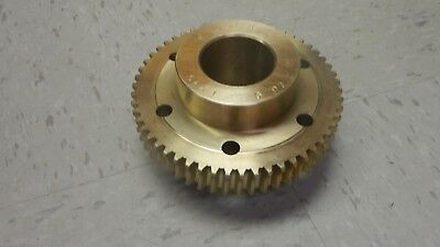 """No Name Brass Bronze Worm Gear 261065 261065 RS 54 Teeth 2 1/4"""" ID New"""