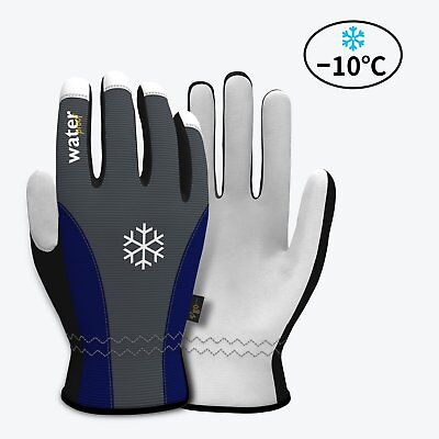 Vgo Glove Leather Waterproof Winter Warm Work Gloves For Men Or & Women Large  L