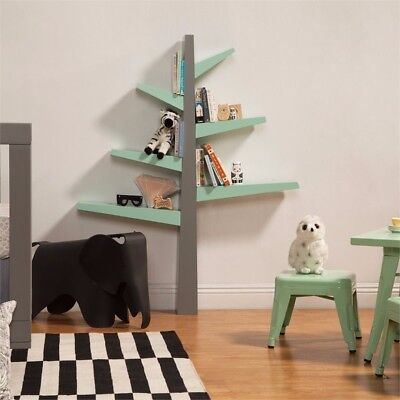Babyletto Spruce Tree Bookcase- Gray/cool Mint- $179 Msrp