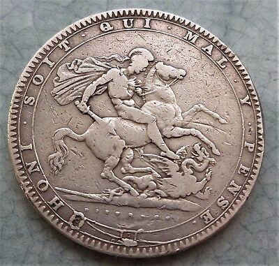1819 Lix  George Iv Silver Crown Lovely (C 200 Years Old)