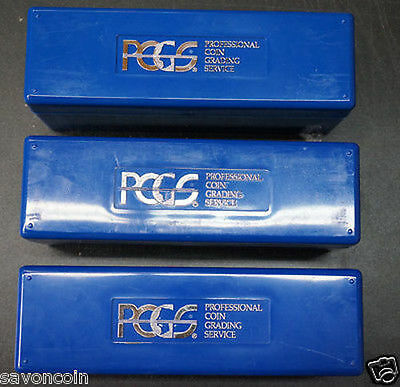LOT of 3 PCGS Blue Coin Slab Storage Boxes