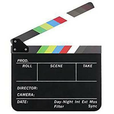 Neewer Dry Erase Director's Film Movie Clapboard Cut Action Scene Clapper Board