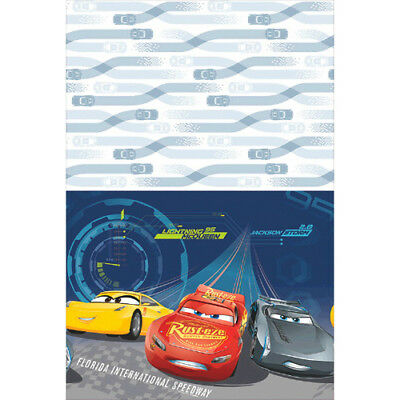 CARS 3 PLASTIC TABLE COVER ~ Birthday Party Supplies Tablecover Cloth Disney