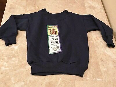 NWT Baby GARANIMALS SWEATSHIRT Infant Crew Neck Top 18 Months Black,Gray