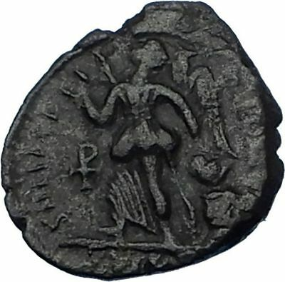 THEODOSIUS I the Great 388AD Authentic Ancient Roman Coin VICTORY ANGEL i65762