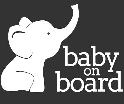 Baby On Board Decal - Elephant