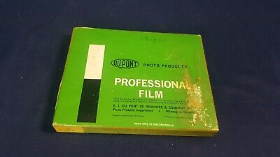 Vintage Du Pont Cronar Professional Film Arrow Pan Type V-Class L 25 Sheets 4x5