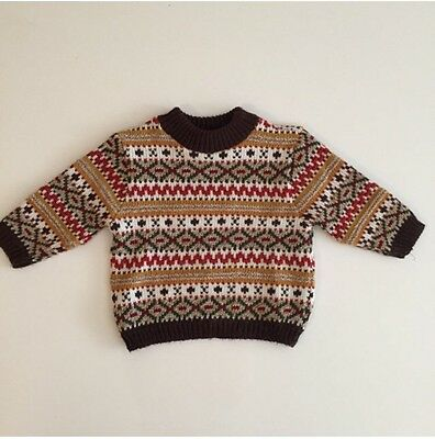 Vintage Baby Toddler Boy Sweater Holiday Winter Clothes  Bundle 12 18 Months