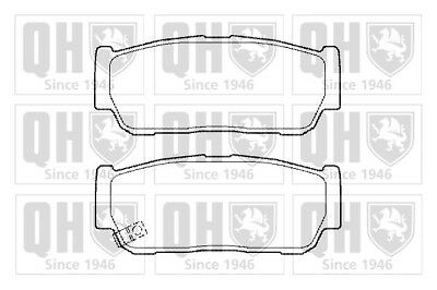 Brake Pads Set fits KIA SORENTO Mk1 2.5D Rear 2002 on D4CB QH 48413091A0 Quality