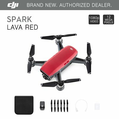 DJI Spark Lava Red Quadcopter Drone + 1 Extra DJI Battery