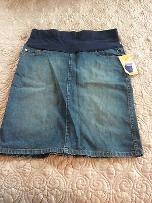 Women's Maternity Denim Jean Skirt NWT Medium TWO HEARTS