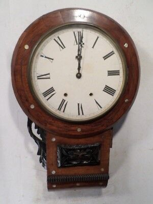 Anglo American New Haven Wall Clock Circa 1875