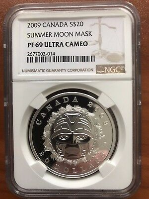 2009 $20 Canada Summer Moon Mask PF69 Ultra Cameo