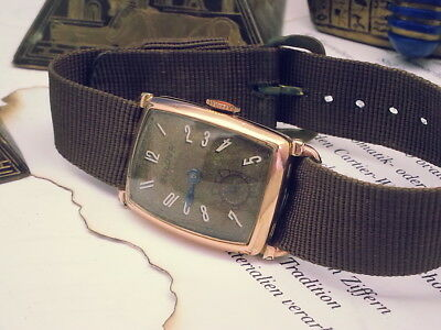 Vintage Rare 1941 Bulova (Spencer) 14Kt Pink Gold-Filled Case Mens Watch
