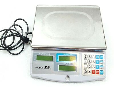 JSK Electronic Coin & Parts Counting Scale, 11 1/2 x 13 Gray Led Display 3kg
