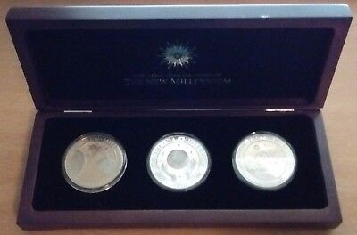 2000 Kiribati 3 piece Proof Set - First Official Coins of the New Millenium