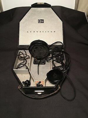 1927 Acousticon Model 28 Hearing Aid With Case & Accessories