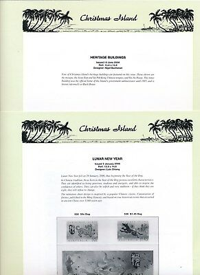2006 Christmas Island Seven Seas Album Pages Used Good Condition NO STAMPS