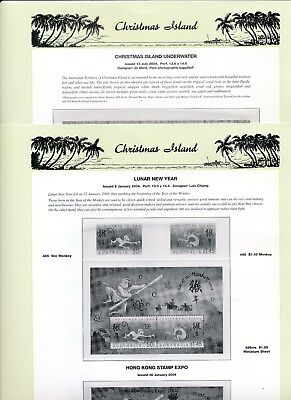 2004 Christmas Island Seven Seas Album Pages Used Good Condition NO STAMPS