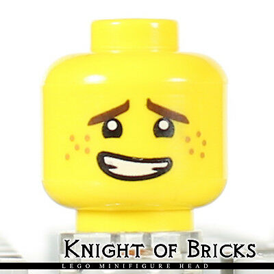 LEGO Head Female with Pink Lips Freckles Lopsided Smile Pattern Minifig