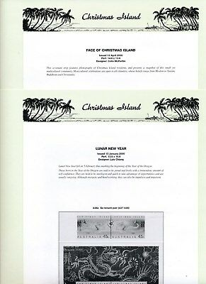 2000 Christmas Island Seven Seas Album Pages Used Good Condition NO STAMPS