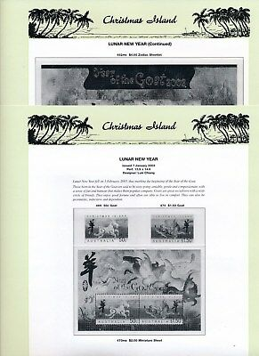 2002 Christmas Island Seven Seas Album Pages Used Good Condition NO STAMPS