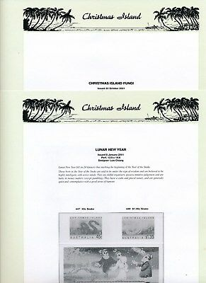 2001 Christmas Island Seven Seas Album Pages Used Good Condition NO STAMPS