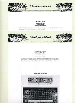 1997 Christmas Island Seven Seas Album Pages Used Good Condition NO STAMPS