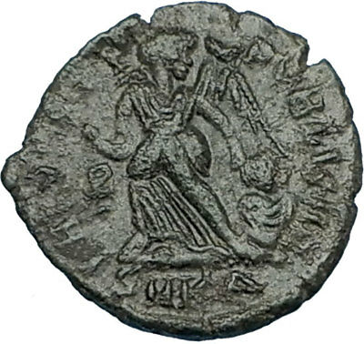 ARCADIUS 388AD Authentic Ancient Genuine Roman Coin VICTORY Angel Captive i65784