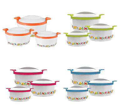 3pc Hot Pot Set Casserole Food Serving Warming Dish Insulated Stainless Steel