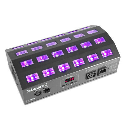 Beamz 153.274 BUV463 LED UV Ultraviolet Strobe Light DMX