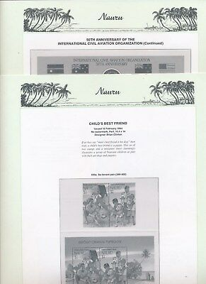 1994 Nauru Seven Seas Album Pages Used Good Condition NO STAMPS