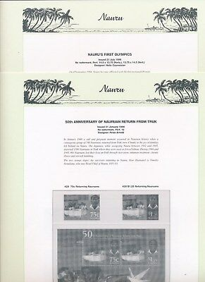 1996 Nauru Seven Seas Album Pages Used Good Condition NO STAMPS