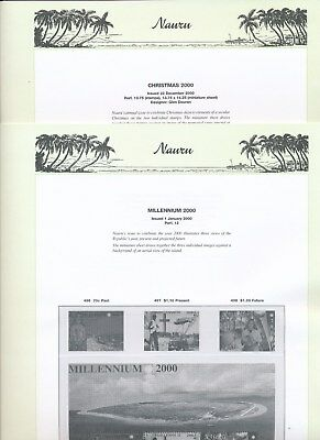 2000 Nauru Seven Seas Album Pages Used Good Condition NO STAMPS
