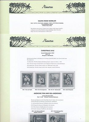2003 Nauru Seven Seas Album Pages Used Good Condition NO STAMPS