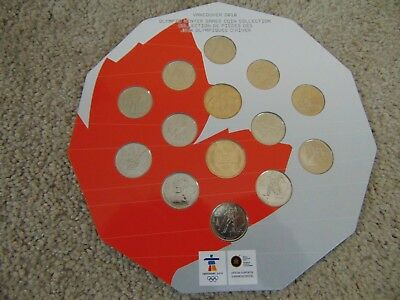 Vancouver 2010 Olympic Winter Games Coin Collection 12 Coins + 1 Loonie