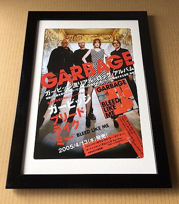 2005 Garbage Bleed Like Me JAPAN album press ad / shirley manson photo FRAMED 5r