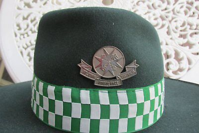 Vintage St Johns Ambulance (Volunteer) Hat with band and badge - 1980's