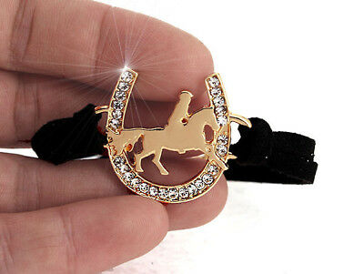 Horse & Western Jewellery Jewelry Ladies Sparkling Cowgirl  Bracelet Gold