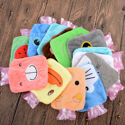 Plush Cartoon Thick Hot Water Bottle Bag Warm Relaxing Heat Cold Therapy Cute