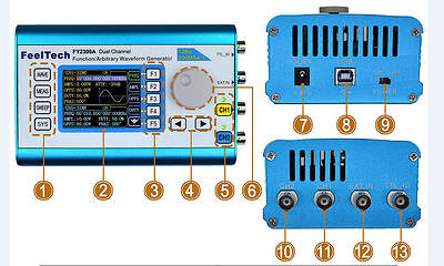 20MHz DDS Arbitrary Waveform Dual Channel Signal Generator Sinewave Squarewave