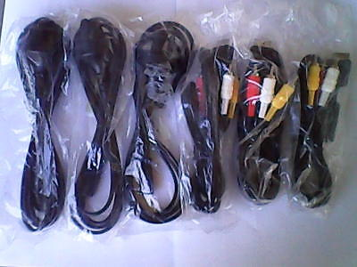 3 x power cords & 3 a/v cables