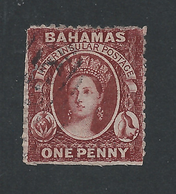 BAHAMAS 1862 1d BROWN-LAKE FU SG 17 CAT £140