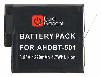 DURAGADGET 1220mAH Power Battery for Use With GoPro HERO5 - AHDBT-501