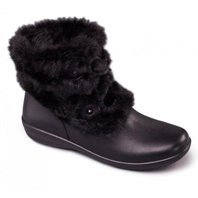 6d94268f308 PADDERS TANYA LADIES Womens Leather Wide (E/2E) Ankle Boots Patent ...