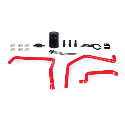 Mishimoto Baffled Oil Catch Can Kit - fits Mazda MX-5 ND 2016 on - Red