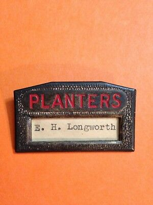 Planters Metal Employee Name Tag Used Mostley By Store Managers