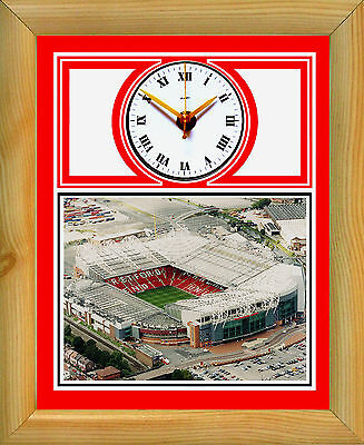 Football Clock Manchester United Old Trafford Aerial
