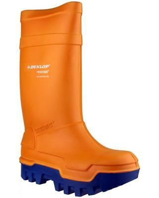 Dunlop PUROFORT THERMO+ C662343 Mens Steel Full Safety Wellington Boots Orange